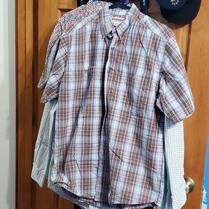 Wrangler Button Down Shirt Size Large